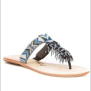 🆕SAM EDELMAN ANELLA LEATHER BEADED  SANDAL (Sz 6)